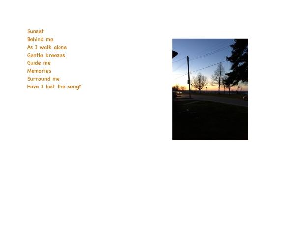 Sunset behind me 2
