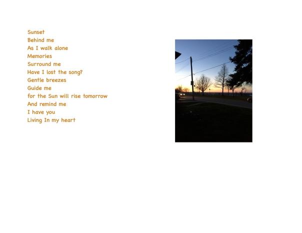 Sunset behind me