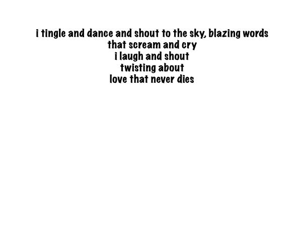 blazing words