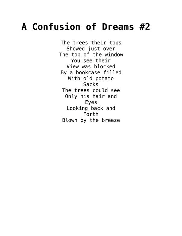 A Confusion of Dreams #2